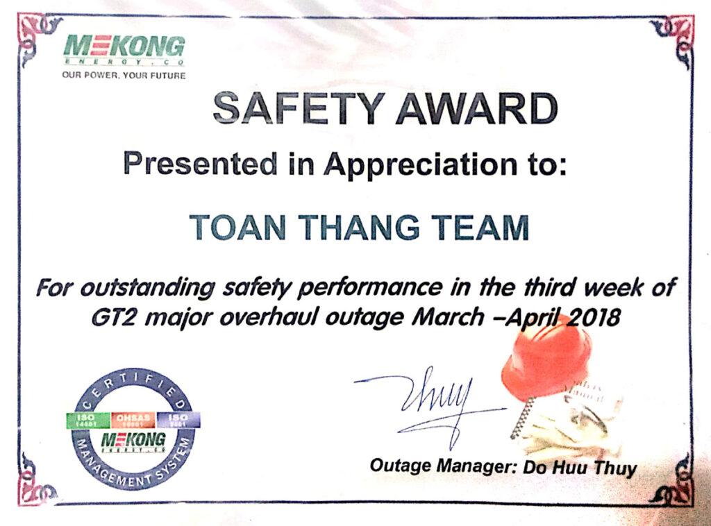 Mekong Safety Award