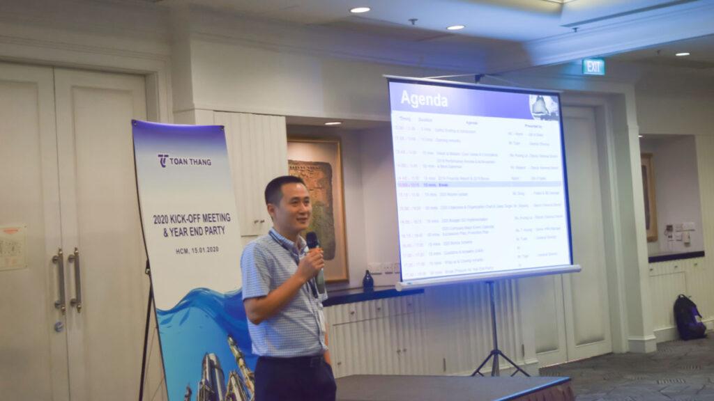 Ông Lê Minh Tuấn – Tổng Giám Đốc TTE cũng động viên, khích lệ tinh thần làm việc của tất cả Nhân viên