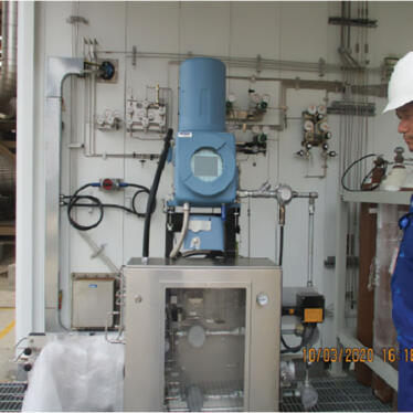 Installating new LPG analyzer