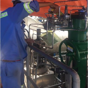 Mong Duong Repaced New Boiler F/W Valve